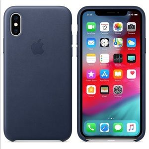 Apple IPhone X genuine leather cell phone case